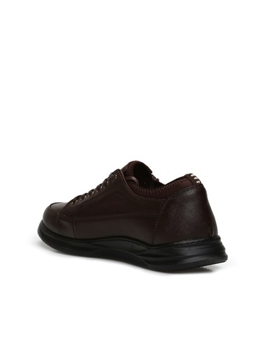 Divarese 5025016 Fermuar Detaylı Erkek Deri Ayakkabı Kahve
